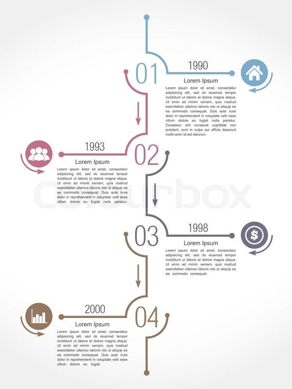 Stock vector of 'Vertical timeline infographics design template, vector eps10 illustration'