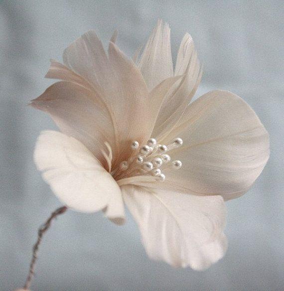 Plumas flores Tutorial DIY Tutorial flores de por jewelboxballerina