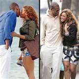 Jay-Z & Beyonce pics showing PDA!