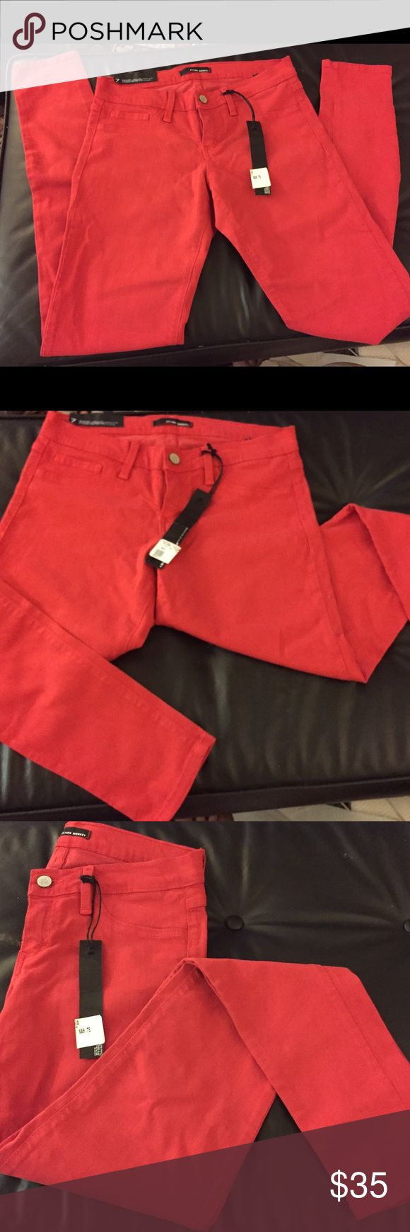 Flying monkey jeans size 7 Nwt  red  flying monkey skinny jeans flying monkey Jeans Skinny