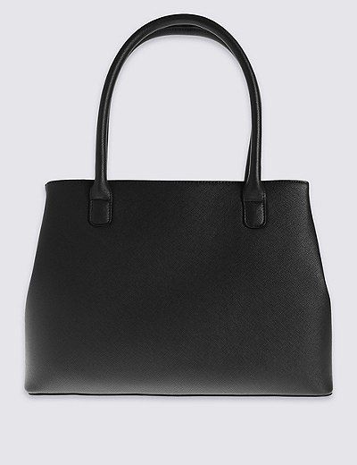 Faux Leather Zipped Tote Bag | Marks & Spencer London