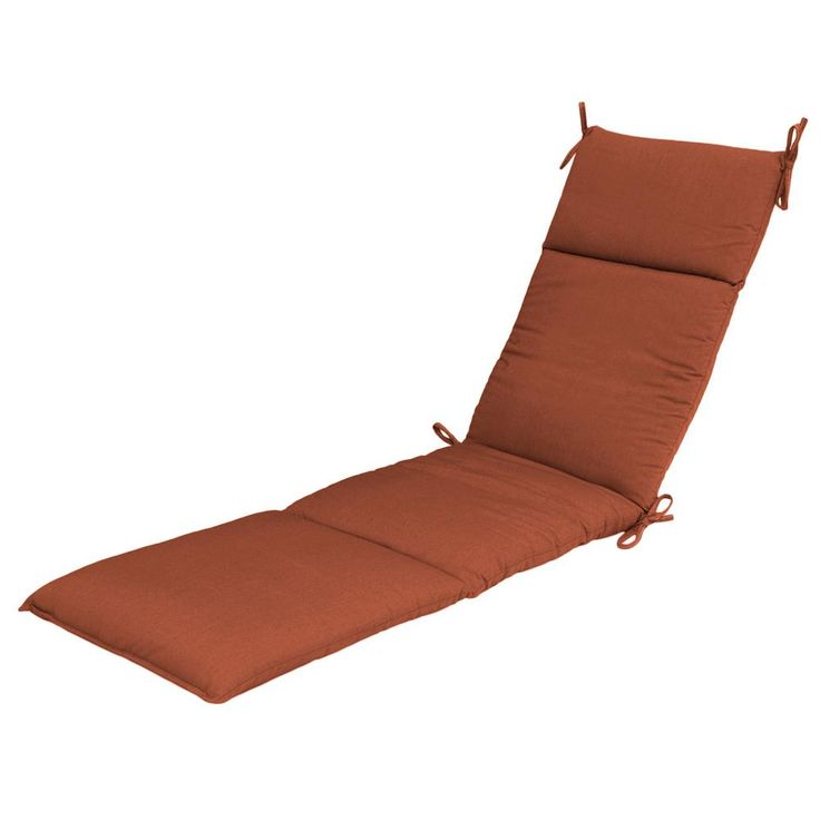 null Sunbrella Canvas Paprika Outdoor Chaise Cushion