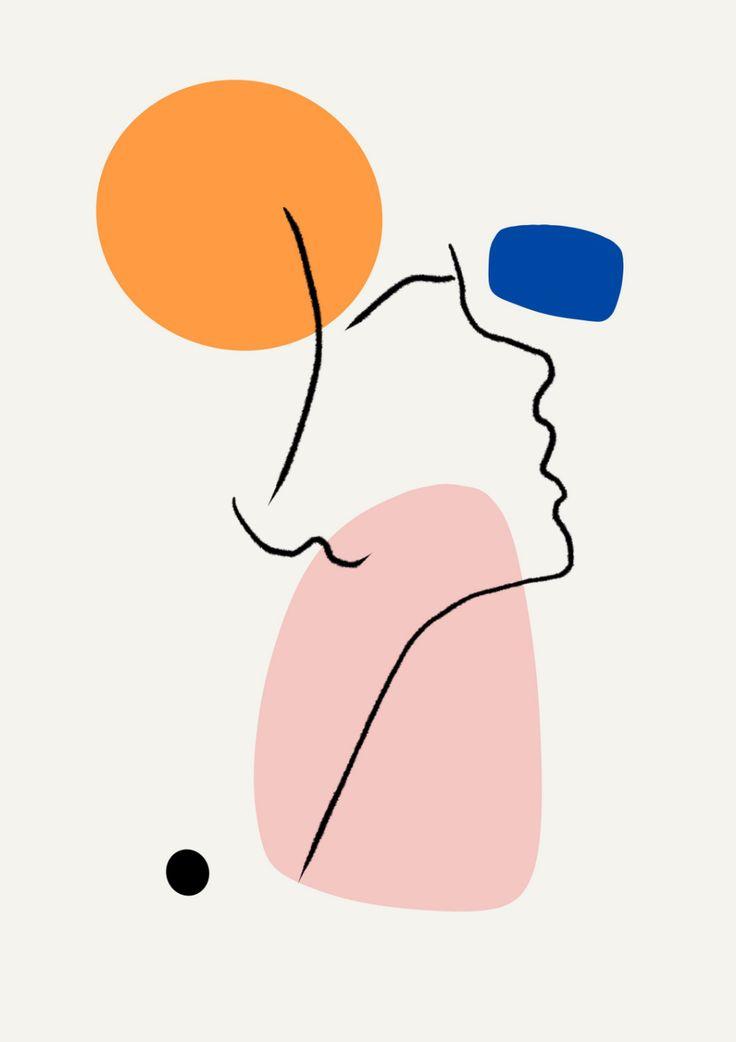 Abstract Art PRINT | Abstract Print, Orange And Black, Matisse Wall Art, Modern Art, Apartment Decor, Living Room Wall Art, Large Print