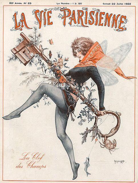 https://flic.kr/p/7h1CGN | Hérouard - LVP cover - 1922 - La Cle Des Champs - key of field