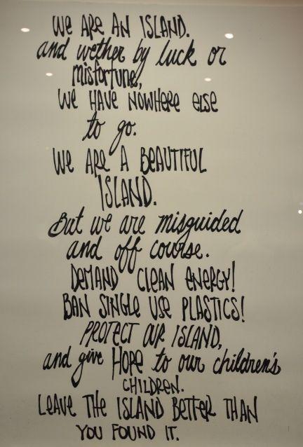 We are an Island poem, by Brandon Boyd