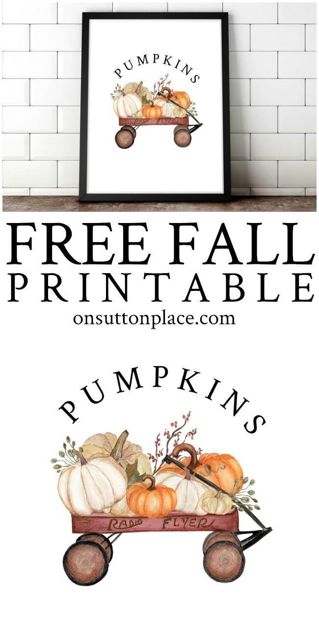 Fall Printables For Easy Diy Wall Art Free Fall Printables Wall