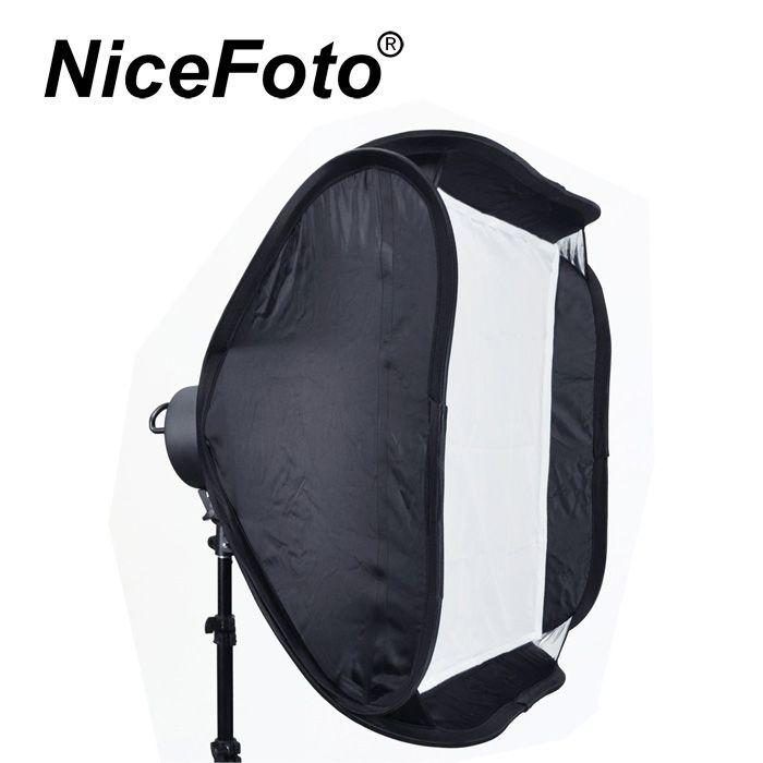 Осветитель NiceFoto G-804A с софтбоксом и патроном под 4 лампы