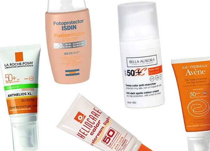 Protectores Solares Spf 50 Con Color Maquillaje Belleza