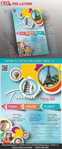 PSD : Contoh Brosur Untuk Travel | network.biz.id