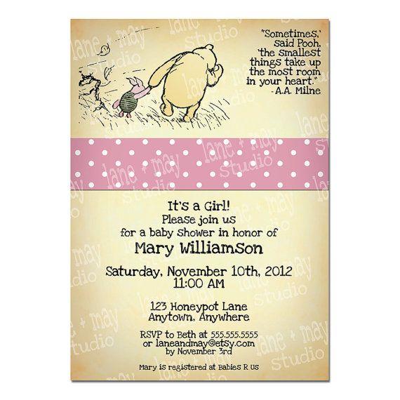 28 best Geboortekaartjes images – Winnie the Pooh Birth Announcements
