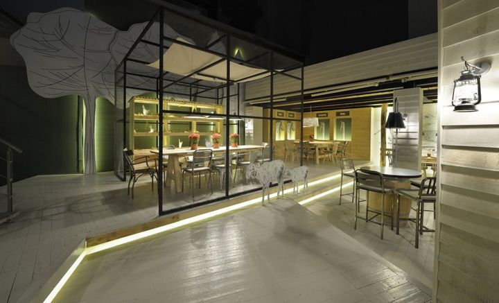 Farma Kreaton restaurant by Minas Kosmidis, Komotini   Greece store design