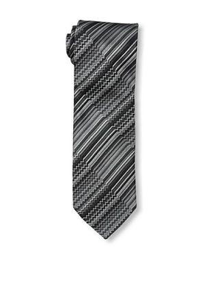 64% OFF Missoni Men's Zig Zag & Stripes Tie, Black/Beige