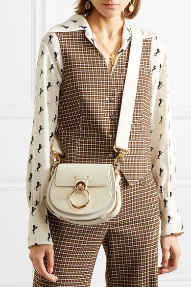 48457ed54e Chloé - Tess small leather and suede shoulder bag in 2019 | Bag B ...
