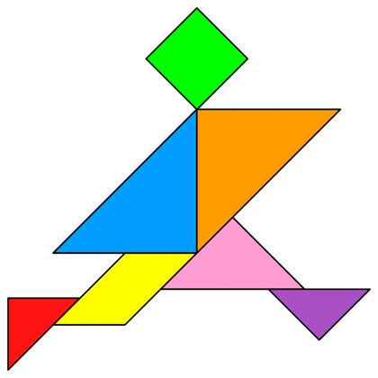 Tangram Boy - Tangram solution #152 - Providing teachers and pupils with tangram puzzle activities