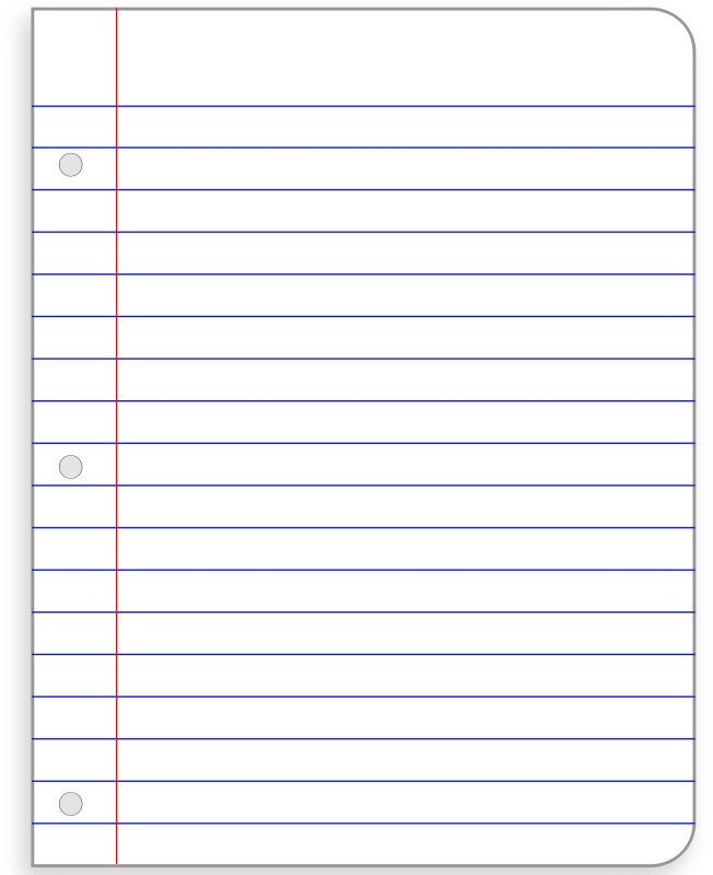 Printable Notebook Paper  CityEsporaCo