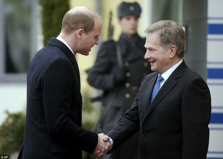 Meanwhile Prince William joined the President of Finland, Sauli Niinisto, at the President...