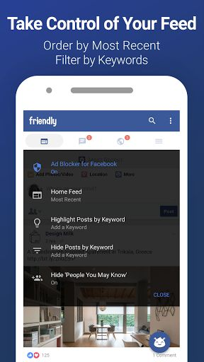 Friendly for Facebook v1.6.01 [Unlocked]   Friendly for Facebook v1.6.01 [Unlocked]Requirements:4.4Overview:Make Your Facebook Great Again!  Friendly is the most complete Facebook and FB Messenger alternative. Built as an extension of the light Facebook mobile website it will preserve your battery storage and data while giving you back control over your news feed.  Keyword Filters  The brand spanking new Keyword Filtering feature for Android devices works in two ways: If youre tired of…