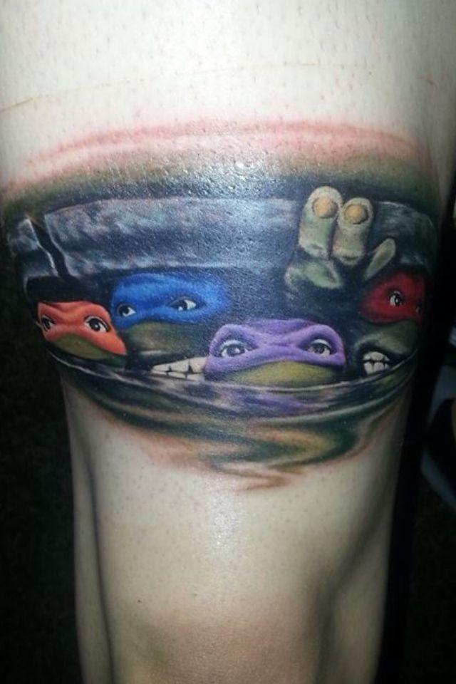 Teenage Mutant Ninja Turtles tattoo! Amazing!