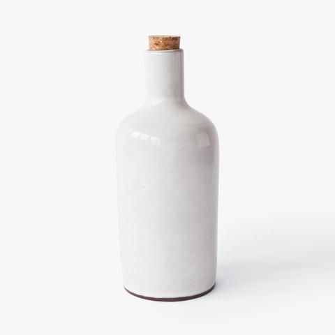 small ceramic bottle Nina Rail #ceramics #white #simple #handmade #hnstly