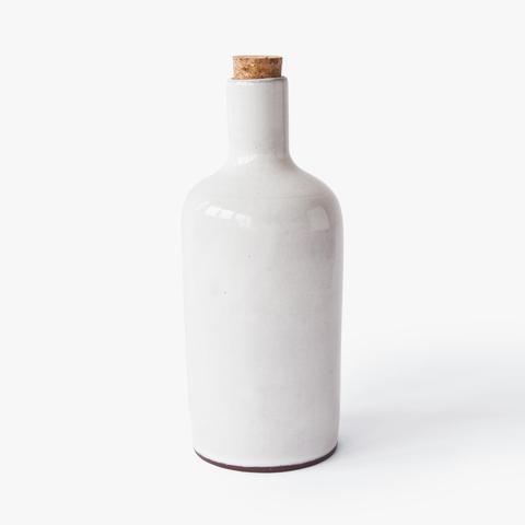 small ceramic bottle Nina Rail #ceramics #white #simple #handmade #hnstly