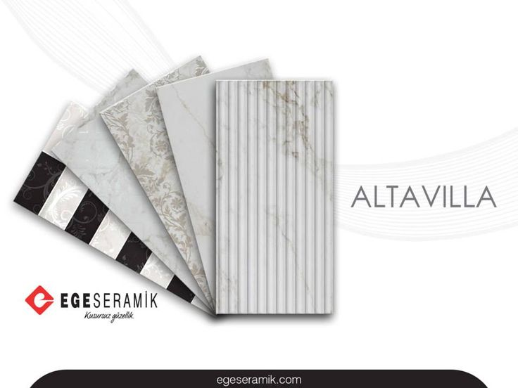ALTAVILLA serisi, doğal mermer dokusunu modern dekorlar ile tamamlıyor.