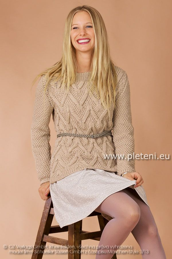 dámský ručně pletený svetr z příze Merino Mix  c97c673f2e
