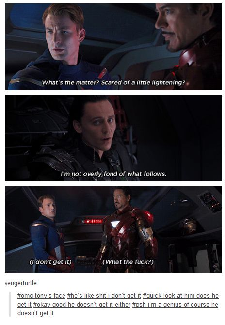 Okay good he doesn't get it either... #avengers