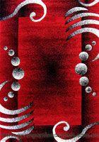 Paris Modern Border Rug 5139 Red