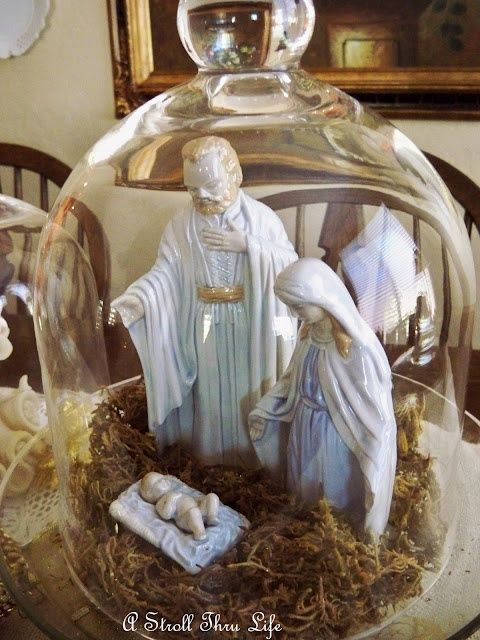 Nativity under apothecary jar