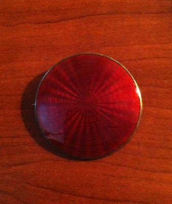 Finn Jensen Norway Red Enamel, Sterling Vermiel Brooch | eBay