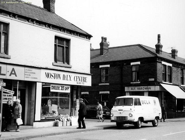 Moston, Moston Lane North Side at Bute Street 1972