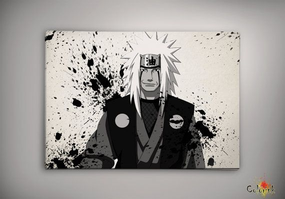 Naruto Shippuuden Jiraiya Watercolor Print 8x10 Archival Print - Art Print - Wall Decor Art Poster- Anime Print- Manga -Cartoon on Etsy, 62,25 zł