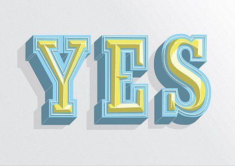 Yes Type set