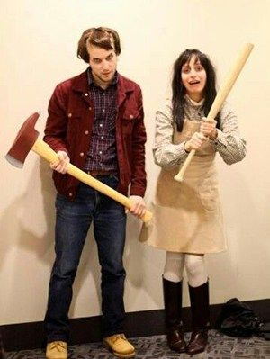 diy couples halloween costume ideas jack and wendy scary the shining movie characters couples - Funny Character Halloween Costumes