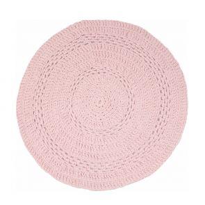 Gehaakt vloerkleed peony baby roze 150 cm - Naco Trade