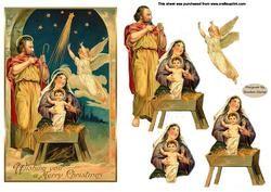 Vintage Nativity Decoupage on Craftsuprint - View Now!