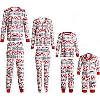 Family Red Deer Matching Christmas Long Sleeve Pajamas Set f62f854e6