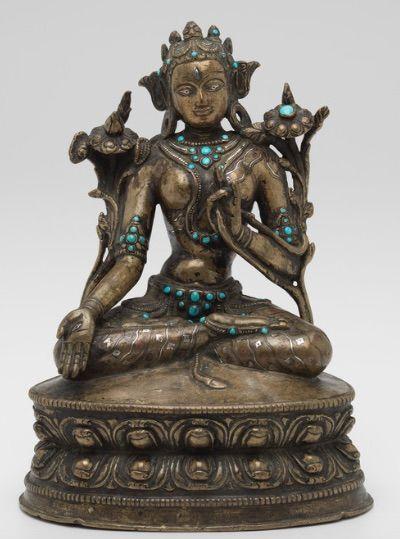 Chinese Tibet White Copper Chakrasamvara Statue   Chinese