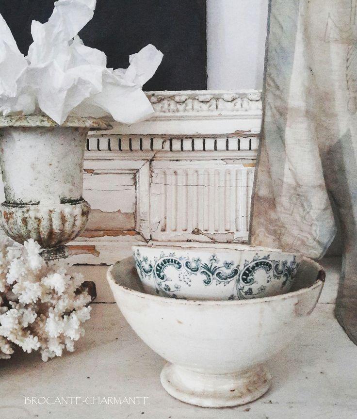 antique french bols - brocante-charmante