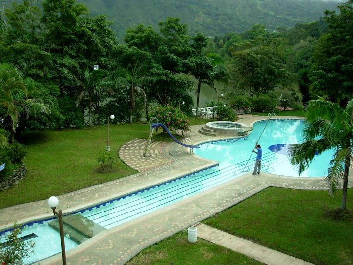 Hotel pool. — with Javier Gonzalez and Lee Wasson in Boyaca, Colombia.