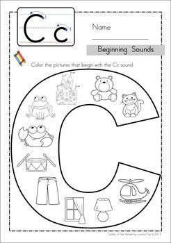 Beginning Sounds. Great for Preschool and Kindergarten!