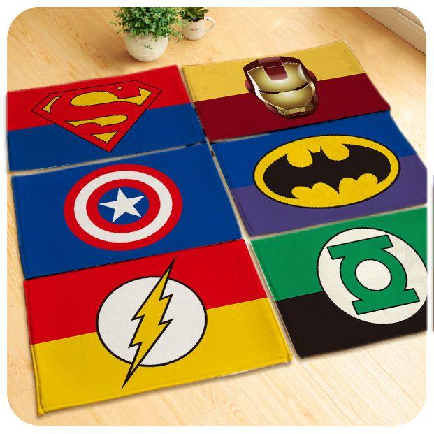 60x40 cm/80x50 cm/90x60 cm, zachte superhero tapijt superman kleed batman/captain america vloermat deurmat slaapkamer erker matten gift