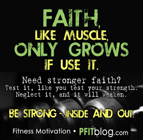 Build Your Faith Muscles, Whatever we put the work into is what will shine the brightest!!!