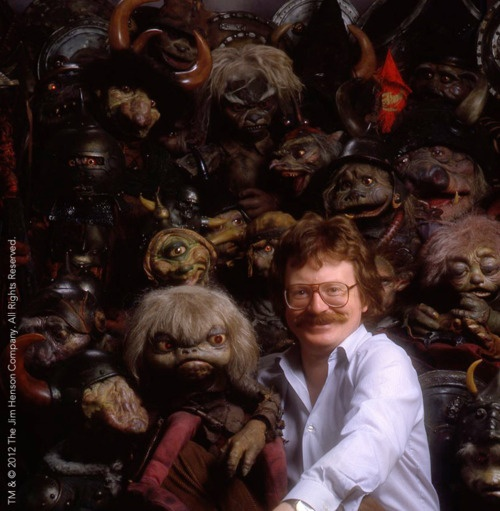 Brian Froud with Labyrinth goblins. I would totally geek out if I met him!
