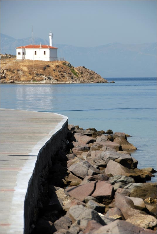 They turned the lighthouse in the background in to a night club..  It was open for about four days I think before the residents of Foca went mad....  xx