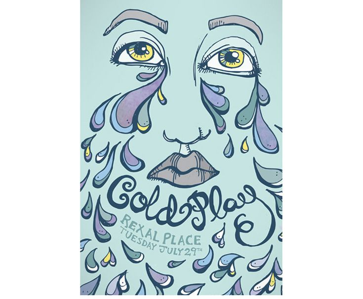 Coldplay - Show Poster