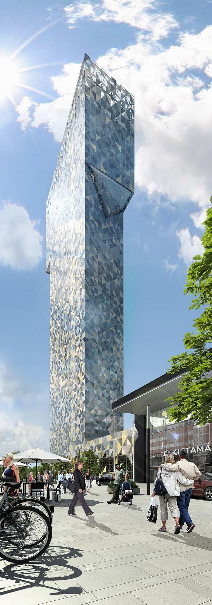Scandic Victoria Tower, Stockholm by Gert Wingårdh Architects :: 34 floors, height 117m