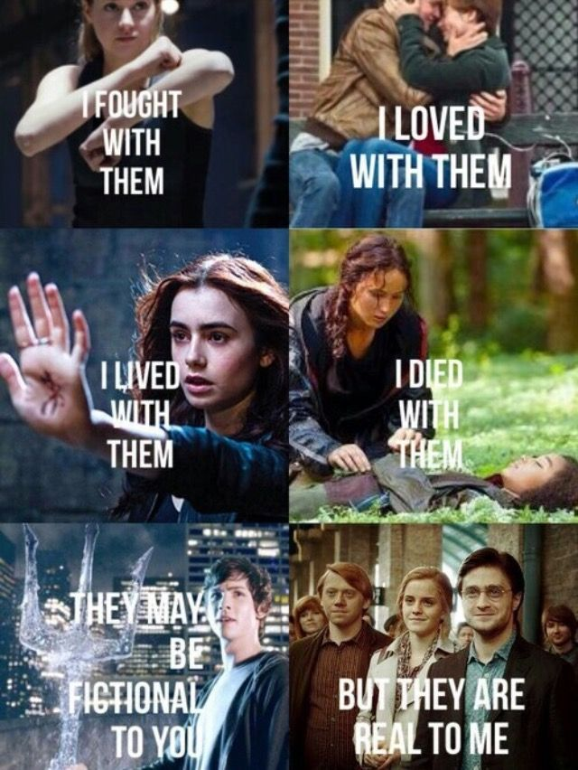 Divergent, The Fault In Our Stars, The Mortal Instruments, The Hunger Games, Percy Jackson and the Olympians, and Harry Potter