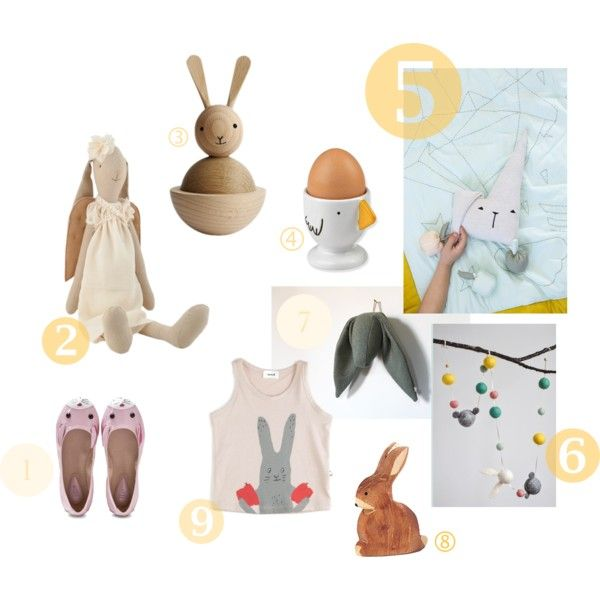 bunnies by paulpaula on Polyvore featuring Bloch and Maileg