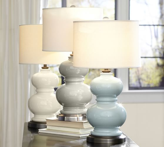 Pottery Barn Alexis Lamp: Alexis Ceramic Bedside Lamp Base